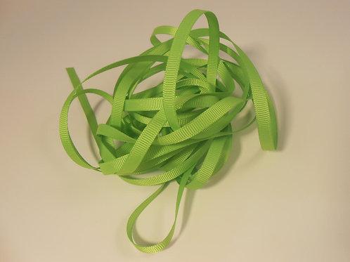 5 Yards Spring Green Grosgrain Ribbon 1/4 inch wide trim scrapbooking embellish