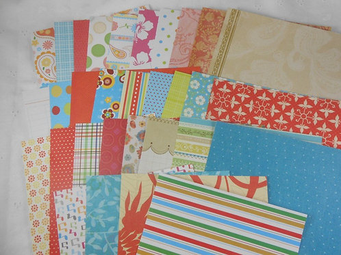 DCWV 6x6 SAMPLER Pack 31 papers pretty funky No. 110 stack 6x6