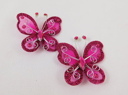 Dark Pink Glitter Butterflies Home Decor Crafts Supplies scrapbooking crafts