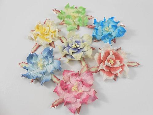 Mulberry Paper Flowers Assortment No. 74289 sampler Gardenia scrapbooking