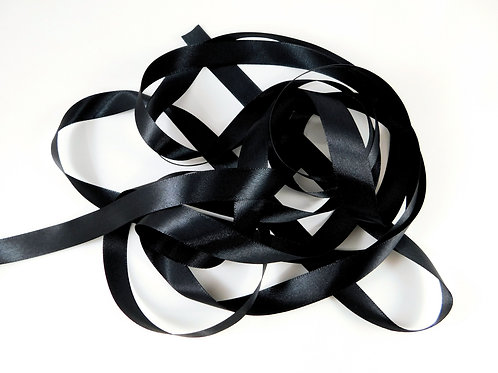 5/8 inch wide Black Single Face Satin Ribbon 5 Yards for scrapbooking crafts car