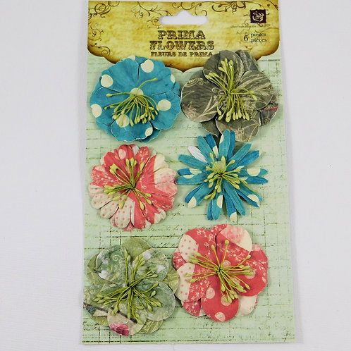Prima Flowers Strawberry Kisses Pack 539757 paper flowers craft scrapbooking hom