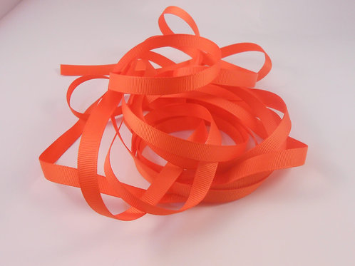 5 Yards Bright Orange Grosgrain Ribbon 3/8 inch trim embellishment scrapbooking