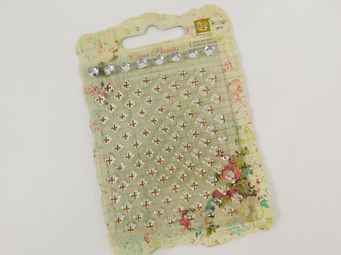 Sparking Spring Clear Stamp from Prima Marketing 545031 rhinestones scrapbooking