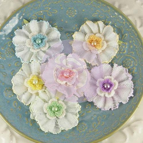 Prima Flowers Angelous uriel Pack 542702 fabric flowers crochet embellishment