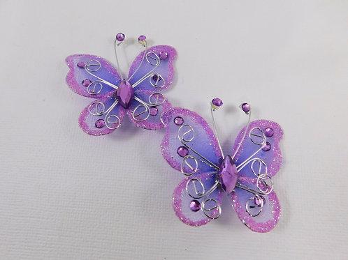 Light Purple Glitter Butterflies Home Decor Crafts Supplies scrapbooking crafts