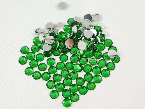 60 Emerald Green Acrylic Flatback Round Rhinestones 7mm Embellishment Scrapbooki