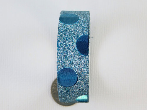 Aqua Glitter Metallic Large Dots Washi Tape Roll 15mm 3.5 meters (3.83 yards) Em