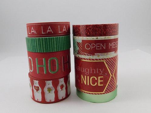 Washi Tape Martha Stewart Christmas Cheer Glitter Foil red green polar bears