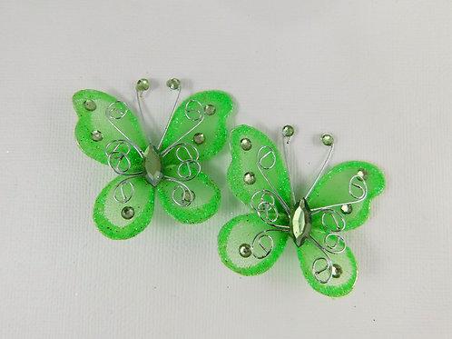 5 cm Bright Green Glitter Butterflies Home Decor Crafts scrapbooking craft plann