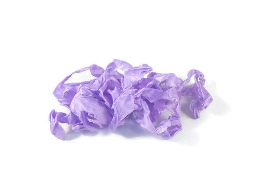 Lavender Purple Wrinkled Ribbon Handmade 4 Yards embellishment Embellishmen