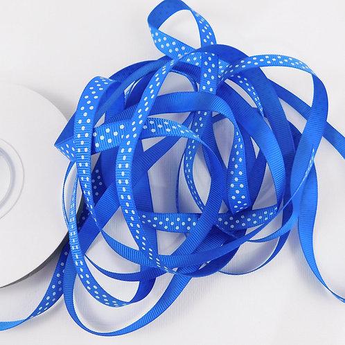 4 Yards True Blue Dots Grosgrain Ribbon 3/8 inch Embellishment Crafts