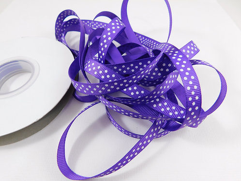 4 Yards Purple with White Dots Grosgrain Ribbon 3/8 inch embellishment