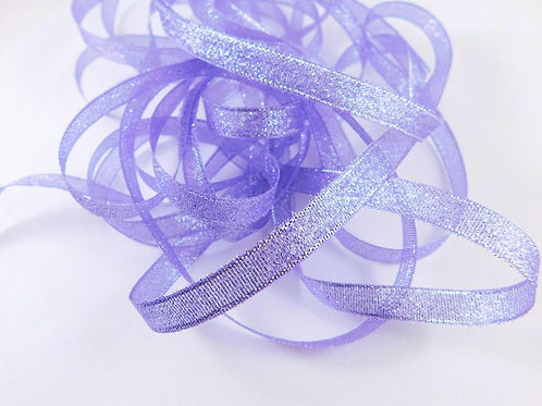 Light Purple Silver Metallic 1cm ribbon 5 yard Embellishment Trim craft Embellis