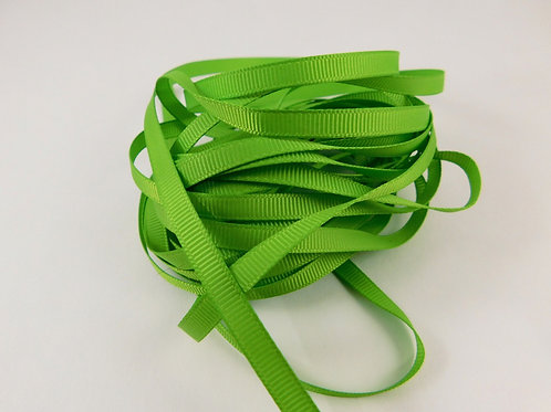 5 Yards Spring Green Grosgrain Ribbon 1/4 inch wide trim scrapbook embellish