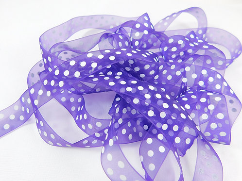 3 Yards Purple Organza ribbon 5/8 inch wide Quality trim scrapbooking supplies