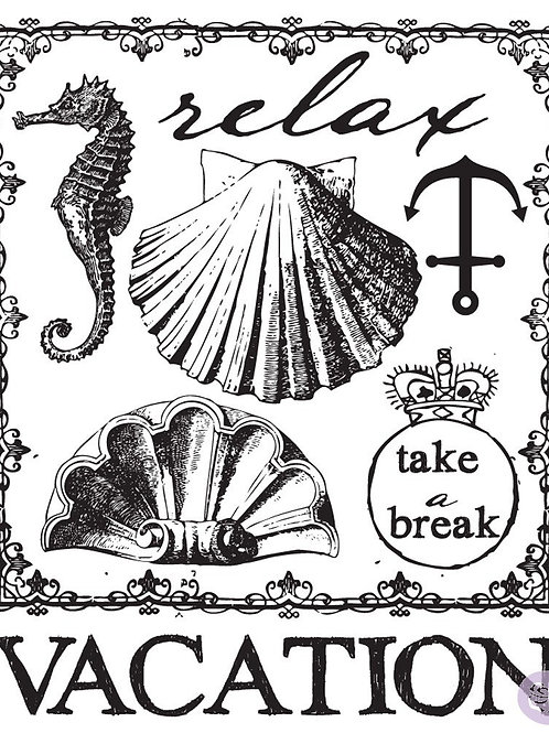 Seashore #2 Clear Stamp Set from Prima Marketing 572600 Vacation