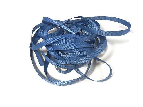 5 Yards Wedgewood Blue Grosgrain Ribbon 1/4 inch wide trim embellishment