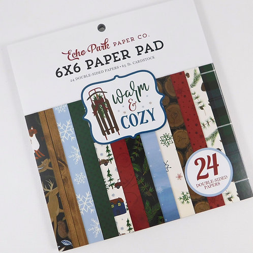 Echo Park Paper Co 6 x 6 Paper Pad Warm and Cozy 24 double sided pages 65#