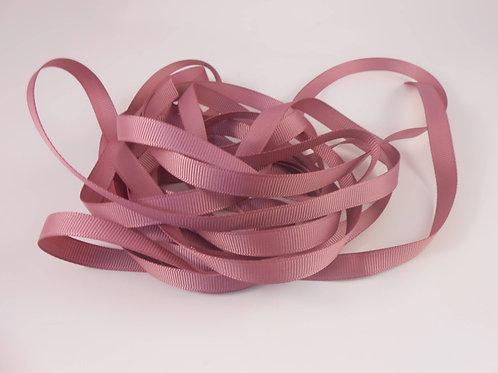 Rosey Mauve Grosgrain Ribbon 3/8 inch wide trim 5 Yards Embellishment Crafts