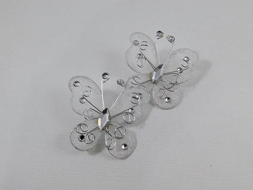 White Iridescent Glitter Butterflies Home Decor Crafts Supplies scrapbooking cra