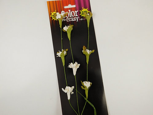 White Floral Vine Petaloo Color Me Crazy White Paper Flowers 1574-003