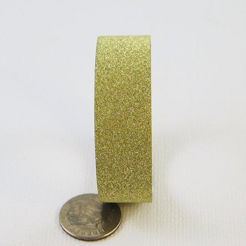 Gold Glitter Washi Tape Roll 15mm 3.5 meters (3.83 yards) Embellishment scrapboo