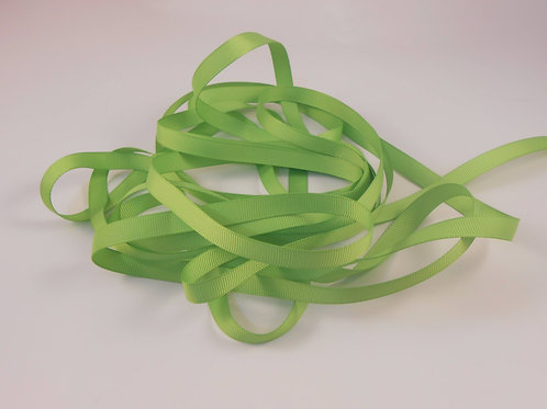 5 Yards Spring Green Grosgrain Ribbon 3/8 inch wide trim scrapbook supplies