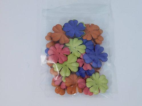 Prima Paper Flowers Orange Pin, Green Purple  No 24M Got Flowers