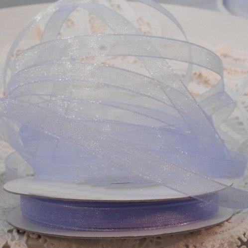 Iris Purple Sheer Organza 1/4 inch ribbon 25 yards Embellishment Trim crafts