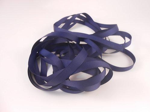 5 Yards Navy Blue Grosgrain Ribbon 3/8 inch wide scrapbooking embellishment trim