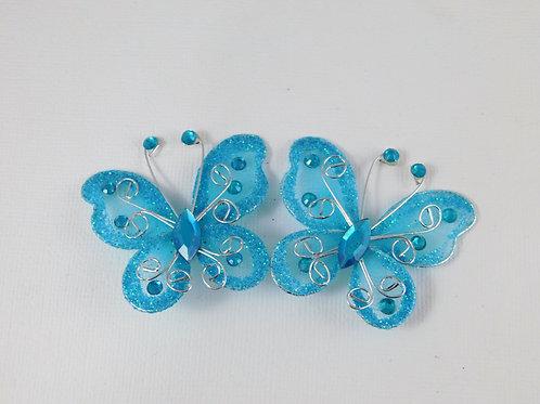 5 cm Bright Blue Glitter Butterflies Home Decor Crafts scrapbooking craft planne