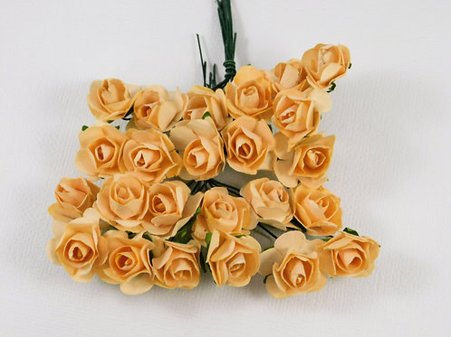 2 cm Champagne Mini Paper Flowers roses with stems supply Floral Flowers craft s