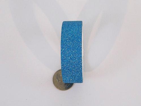 Aqua Glitter Solid Washi Tape Roll 15mm 3.5 meters (3.83 yards) Embellish scrapb