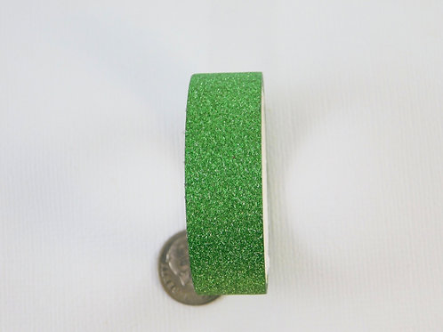 Green Glitter Solid Washi Tape Roll 15mm 3.5 meters (3.83 yards) Embellish scrap