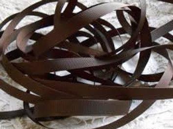 Chocolate Brownie Brown Grosgrain Ribbon 3/8 inch trim scrapbooking crafts
