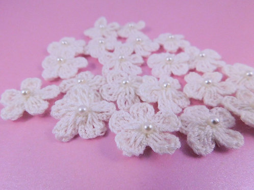 Scrapbooking Crochet Flowers White Floral Flowers crocheted flowers