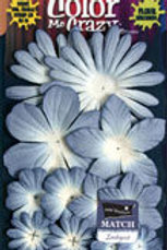 Petaloo Color Me Crazy Periwinkle Blue Paper Flowers 1553305 Sampler