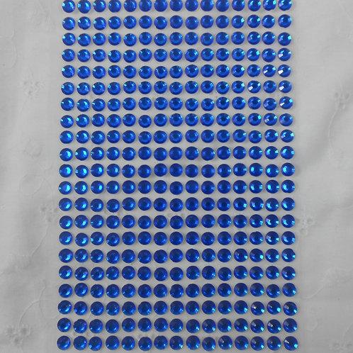 Blue Acrylic Flatback Rhinestones 315 Round Rhinestone Embellis