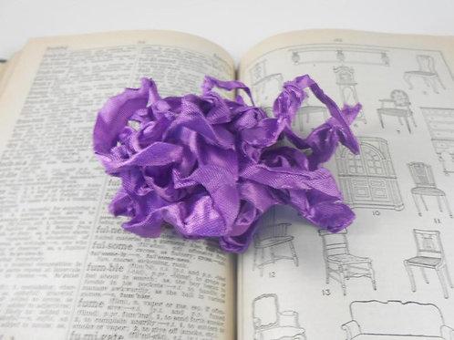 Purple Wrinkled Ribbon Handmade 4 Yards embellishment Embellishment trim craft s