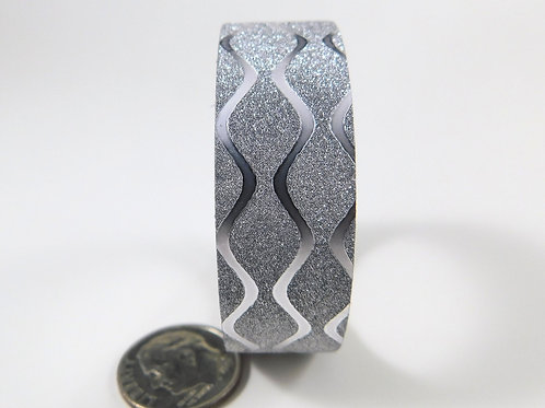 Silver Glitter Metallic Wave Washi Tape Roll 15mm 3.5 meters (3.83 yards) Embell