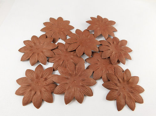 Eco Friendly Mulberry Paper Flowers Chocolate Brown Assortment No 111