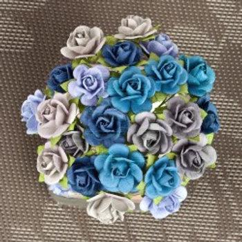 Prima Flowers Mini Sachet Surf Paper Roses Stems 565985
