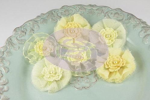 Prima Flowers Bronte Blooms Lemonade Pack 542894 fabric flowers craft scrapbooki