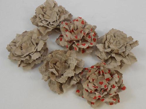 Handmade Paper Flowers Sweet Shabby Wild Roses Craft Paper heart