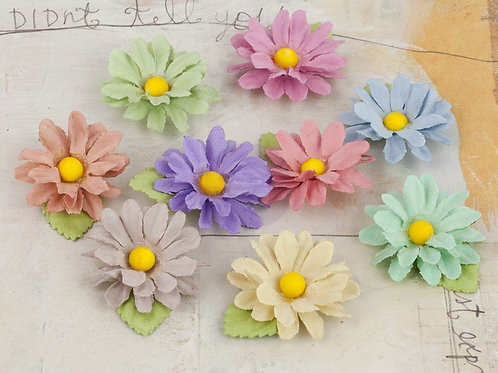 Prima Flowers Lil Missy Flower Multi Colored Pack 571634 scrapbooking supplies