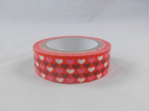Washi Tape Roll 10 m, 15 mm multi Hearts Embellishment crafts supplies supply