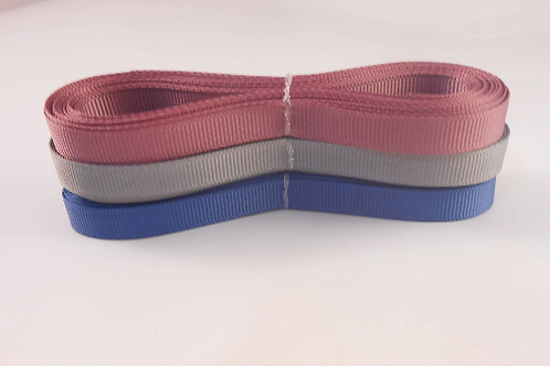 Mauve, Blue, Grey Grosgrain Ribbon 1/4 inch 15 Yards embellishment