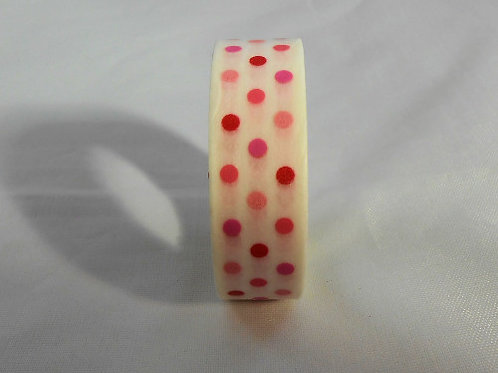Washi Tape Roll 30 feet by .5 inches colorful Dots Embellishment Scrap