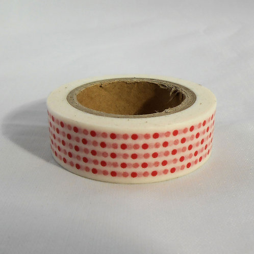 Washi Tape Roll 30 feet by .5 inches Red colorful Dots Embellishment crafts scra